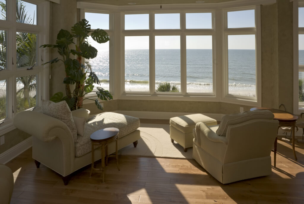 Home window tinting in beach house